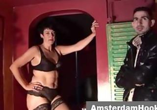 Mature dutch prostitute gives bj
