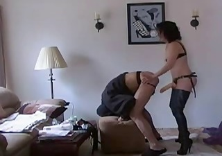 Wife fuck her man with strapon