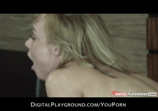 Sexy blonde wife Kayden kross rides hard cock to