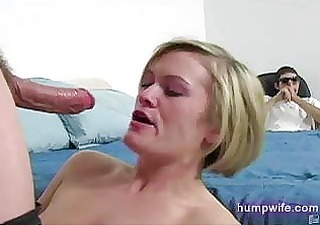 Cuckold wife sucks husband watches in shame from
