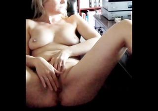 girlfriend watching porn and masturbating to